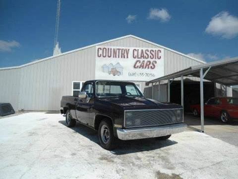 1985 Chevrolet C/K 10 Series for sale at Country Classic Cars in Staunton IL