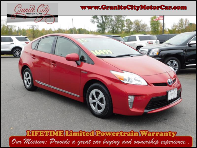 Awesome 2015 Toyota Prius For Sale At Granite City Motor Car In Saint Cloud MN