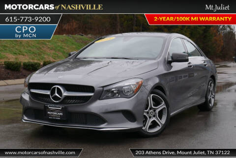 2018 Mercedes-Benz CLA CLA 250 for sale at MotorCars of Nashville in Mount Juliet TN