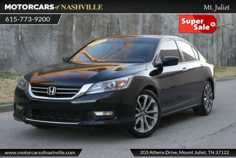 2013 Honda Accord Sport for sale at MotorCars of Nashville in Mount Juliet TN