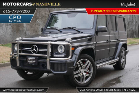 2016 Mercedes-Benz G-Class AMG G 63 for sale at MotorCars of Nashville in Mount Juliet TN