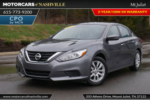 2017 Nissan Altima for sale at MotorCars of Nashville in Mount Juliet TN