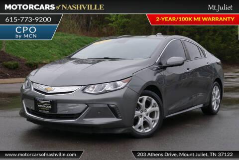 2016 Chevrolet Volt Premier for sale at MotorCars of Nashville in Mount Juliet TN