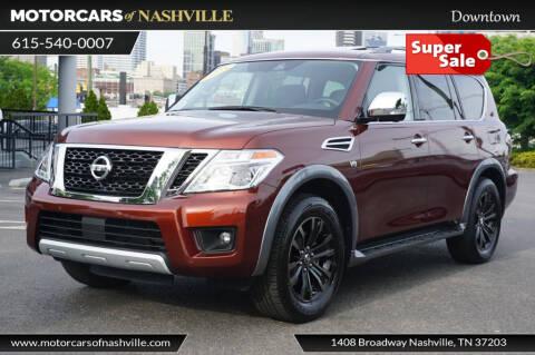 2018 Nissan Armada for sale at MotorCars of Nashville in Mount Juliet TN