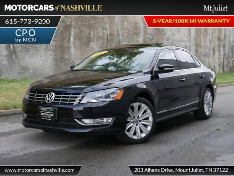 2013 Volkswagen Passat TDI SEL Premium for sale at MotorCars of Nashville in Mount Juliet TN