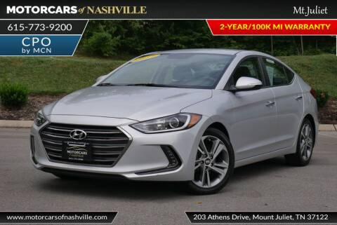 2017 Hyundai Elantra for sale at MotorCars of Nashville in Mount Juliet TN