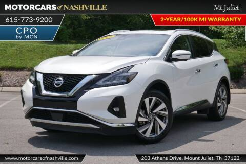2019 Nissan Murano for sale at MotorCars of Nashville in Mount Juliet TN