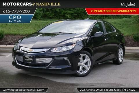 2017 Chevrolet Volt for sale at MotorCars of Nashville in Mount Juliet TN