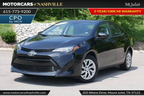 2019 Toyota Corolla for sale at MotorCars of Nashville in Mount Juliet TN