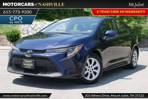 2020 Toyota Corolla for sale at MotorCars of Nashville in Mount Juliet TN