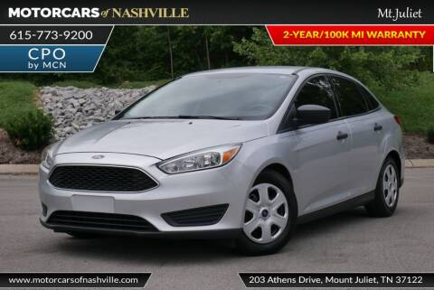 2016 Ford Focus for sale at MotorCars of Nashville in Mount Juliet TN