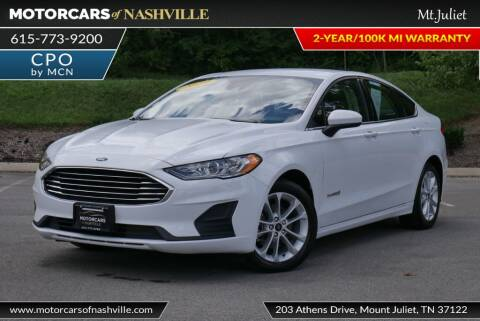 2019 Ford Fusion Hybrid for sale at MotorCars of Nashville in Mount Juliet TN