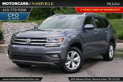2019 Volkswagen Atlas for sale at MotorCars of Nashville in Mount Juliet TN