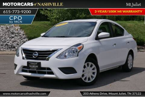 2019 Nissan Versa for sale at MotorCars of Nashville in Mount Juliet TN