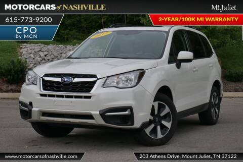 2017 Subaru Forester for sale at MotorCars of Nashville in Mount Juliet TN
