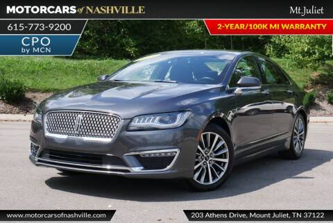 2019 Lincoln MKZ for sale at MotorCars of Nashville in Mount Juliet TN