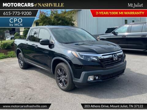 2018 Honda Ridgeline for sale at MotorCars of Nashville in Mount Juliet TN