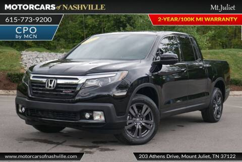 2018 Honda Ridgeline for sale at MotorCars of Nashville in Mount Juliet TN