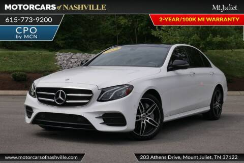 2019 Mercedes-Benz E-Class for sale at MotorCars of Nashville in Mount Juliet TN