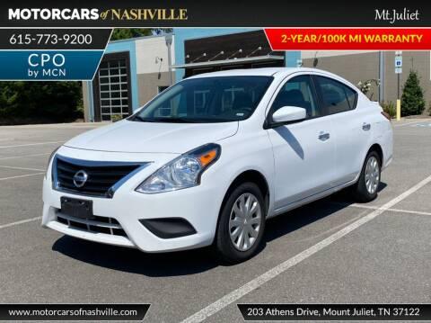 2019 Nissan Versa for sale at MotorCars of Nashville in Mount Juliet TN