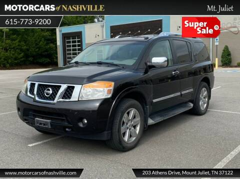 2011 Nissan Armada for sale at MotorCars of Nashville in Mount Juliet TN