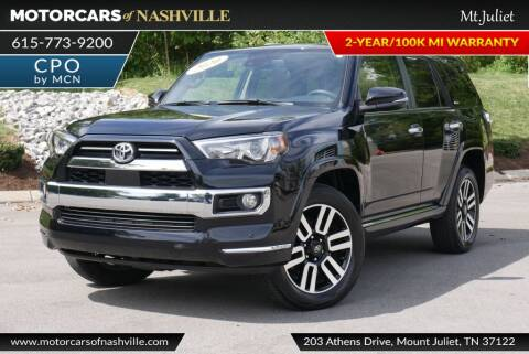 2020 Toyota 4Runner for sale at MotorCars of Nashville in Mount Juliet TN