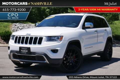 2014 Jeep Grand Cherokee for sale at MotorCars of Nashville in Mount Juliet TN