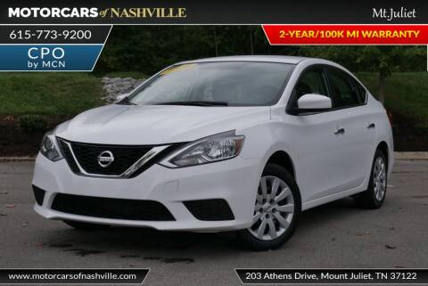 2016 Nissan Sentra for sale at MotorCars of Nashville in Mount Juliet TN