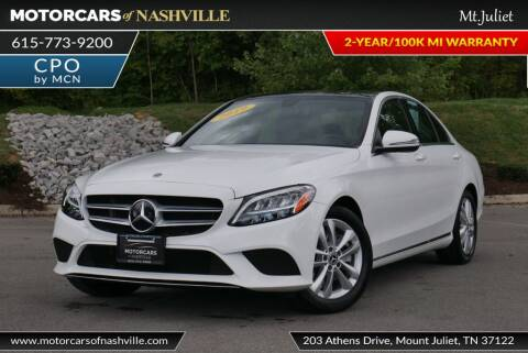 2019 Mercedes-Benz C-Class for sale at MotorCars of Nashville in Mount Juliet TN