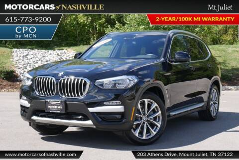 2019 BMW X3 for sale at MotorCars of Nashville in Mount Juliet TN