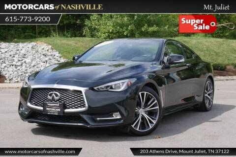 2017 Infiniti Q60 for sale at MotorCars of Nashville in Mount Juliet TN