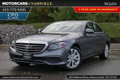 2017 Mercedes-Benz E-Class for sale at MotorCars of Nashville in Mount Juliet TN