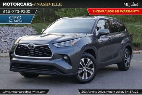 2020 Toyota Highlander for sale at MotorCars of Nashville in Mount Juliet TN