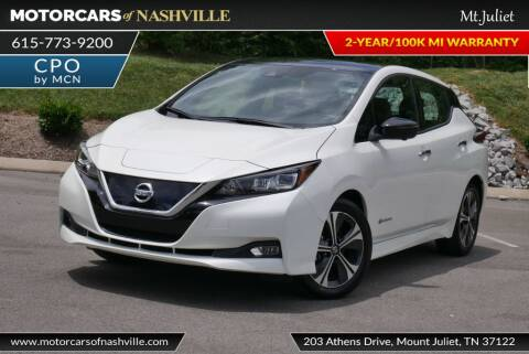 2019 Nissan LEAF for sale at MotorCars of Nashville in Mount Juliet TN