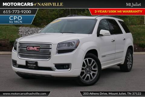 2013 GMC Acadia for sale at MotorCars of Nashville in Mount Juliet TN