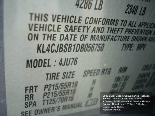 2013 Buick Encore Convenience 4dr Crossover - Highland Park IL