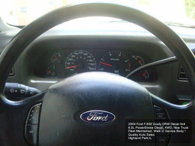2004 Ford F-550 DRW Walk In Service Body - Highland Park IL