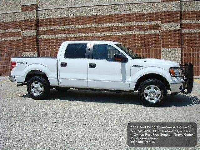 2012 Ford F-150 4x4 XLT 4dr SuperCrew Styleside 5.5 ft. SB - Highland Park IL