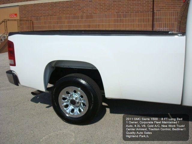 2011 GMC Sierra 1500 4x2 Work Truck 2dr Regular Cab 8 ft. LB - Highland Park IL