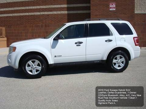 2010 Ford Escape Hybrid for sale in Highland Park, IL