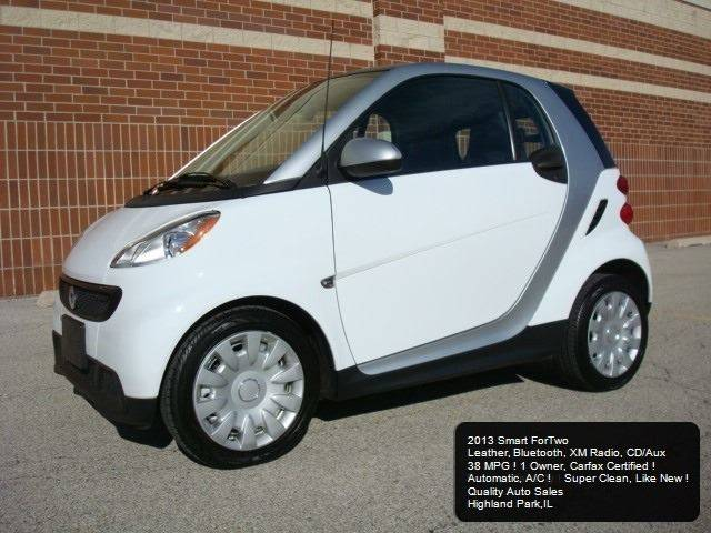 2013 Smart Fortwo BEST PRICE !: 2013 SMART FORTWO LEATHER CAR GAS AUTO A/C BLUETOOTH CD MP3 1 OWNER CARFAX !