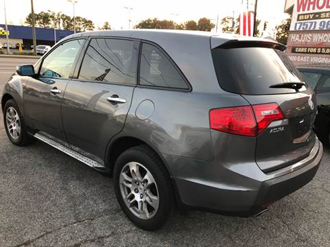 2008 Acura MDX SH-AWD w/Tech for sale at HW Auto Wholesale in Norfolk VA