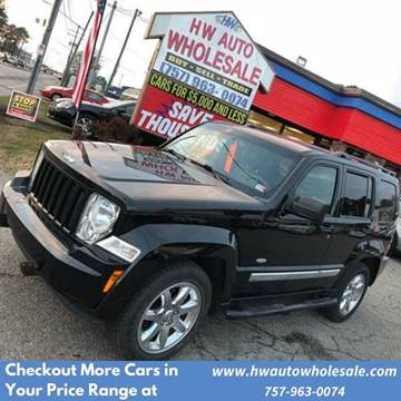 2012 Jeep Liberty Latitude for sale at HW Auto Wholesale in Norfolk VA