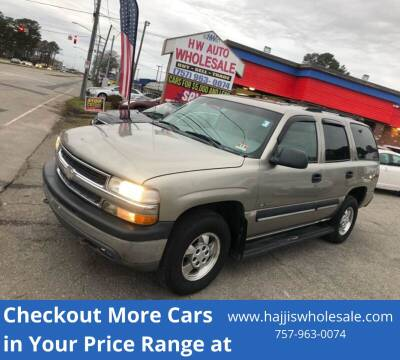 2001 Chevrolet Tahoe LS for sale at HW Auto Wholesale in Norfolk VA