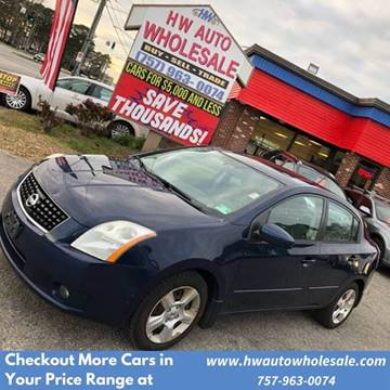 2008 Nissan Sentra 2.0 S for sale at HW Auto Wholesale in Norfolk VA
