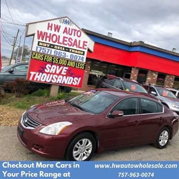 2010 Nissan Altima 2.5 SL for sale at HW Auto Wholesale in Norfolk VA