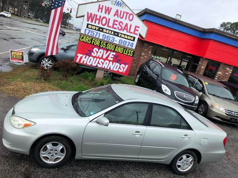 2002 Toyota Camry LE V6 for sale at HW Auto Wholesale in Norfolk VA