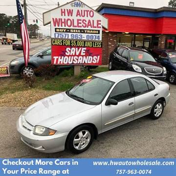 2004 Chevrolet Cavalier LS for sale at HW Auto Wholesale in Norfolk VA