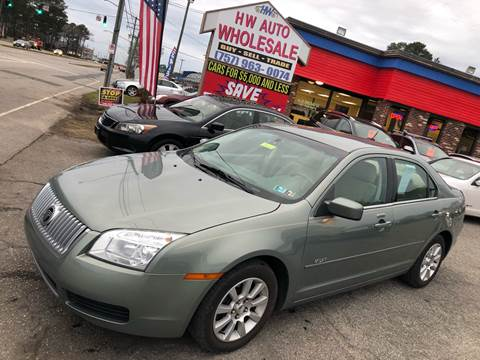 2008 Mercury Milan I-4 for sale at HW Auto Wholesale in Norfolk VA