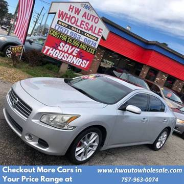 2009 Nissan Maxima 3.5 S for sale at HW Auto Wholesale in Norfolk VA
